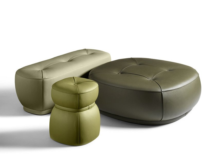 LEPLI\' | Leather pouf THE COLLECTION - Sofa and Armchairs Collection ...