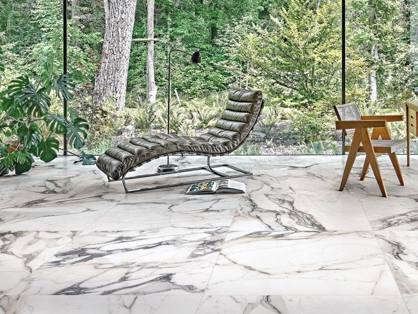 Pavimento/rivestimento in gres porcellanato effetto marmo LES ORIGINES DE REX by Rex
