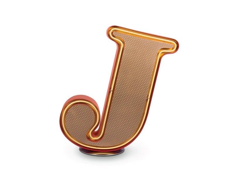 Light letter LETTER J by Delightfull