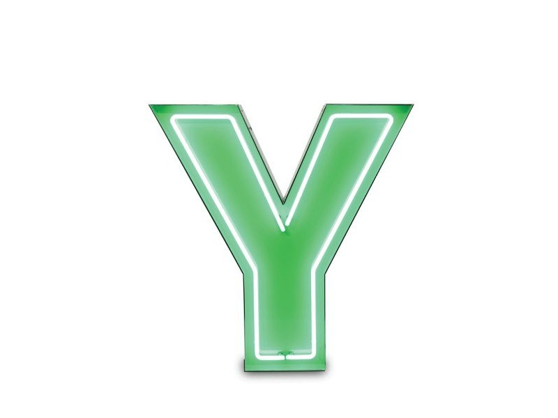 Light letter LETTER Y by Delightfull