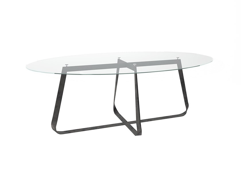 Oval crystal table LEVANTE by Barel