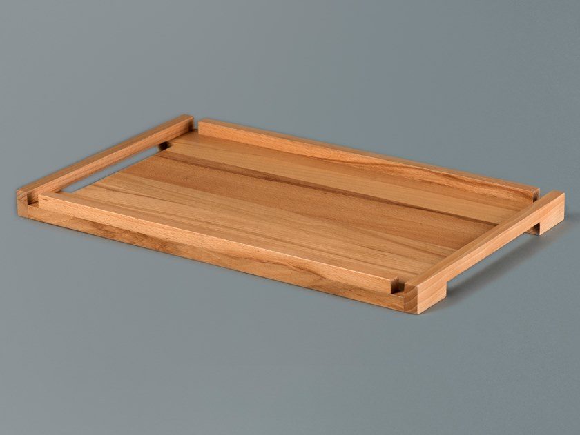 Rectangular solid wood tray LEVEL by Milla & Milli