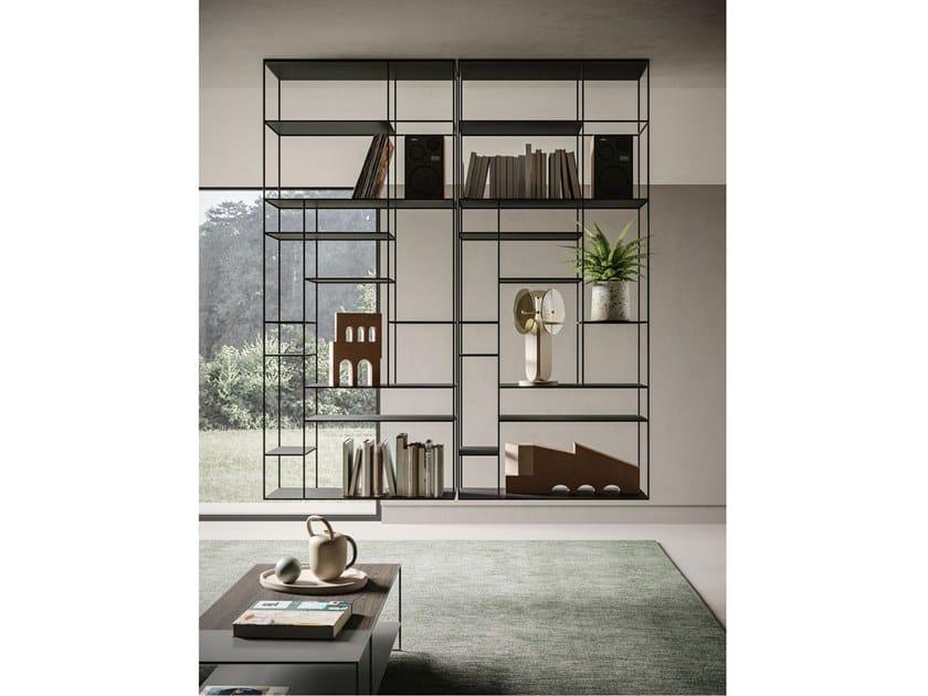 Libreria a giorno sospesa in metallo LEVIA AIR by Ronda Design