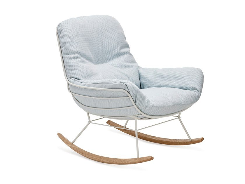 Rocking Sunbrella? garden armchair with armrests LEYASOL OUTDOOR ROCKING LOUNGE by Freifrau