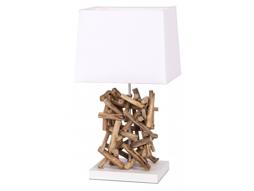 Wooden table lamp LHASSA by Flam & Luce