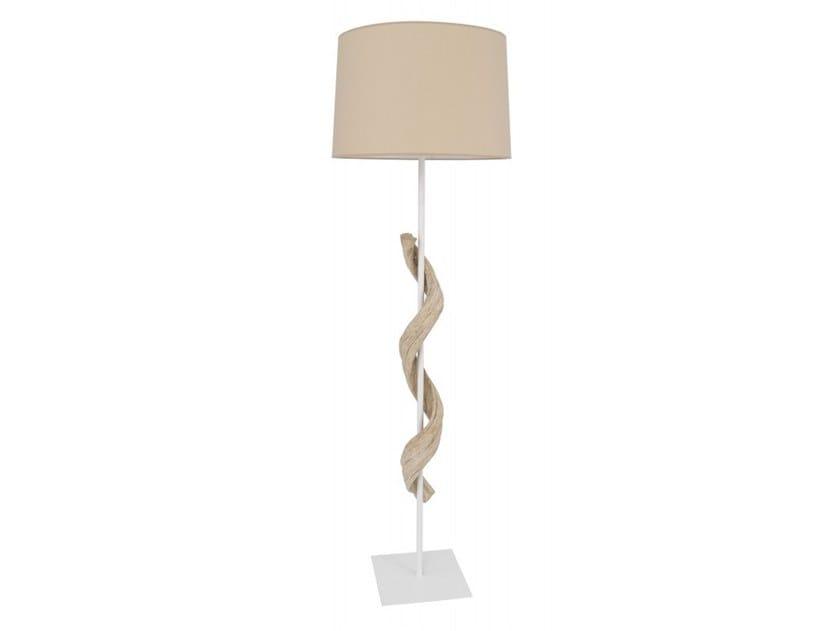 Wooden floor lamp LIANA | Floor lamp by Flam & Luce