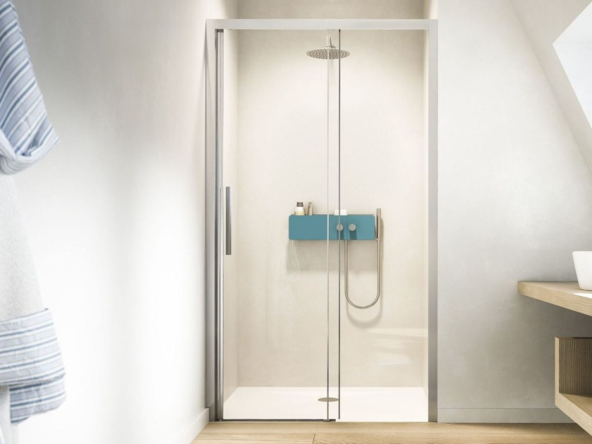Niche shower cabin with sliding door LIBERA L0 by Glass1989