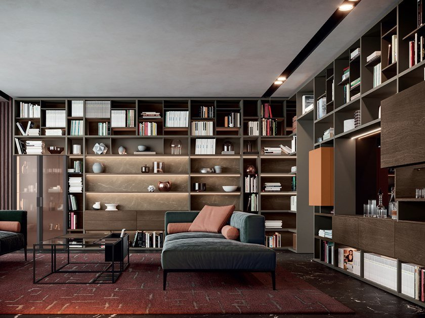 Open bookcase LIBERA by Kico
