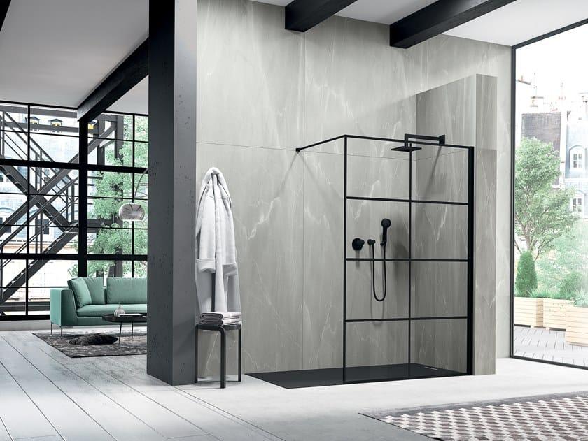 Crystal Walk in shower LIBERO 3000 - PE 8GW L/R by Duka