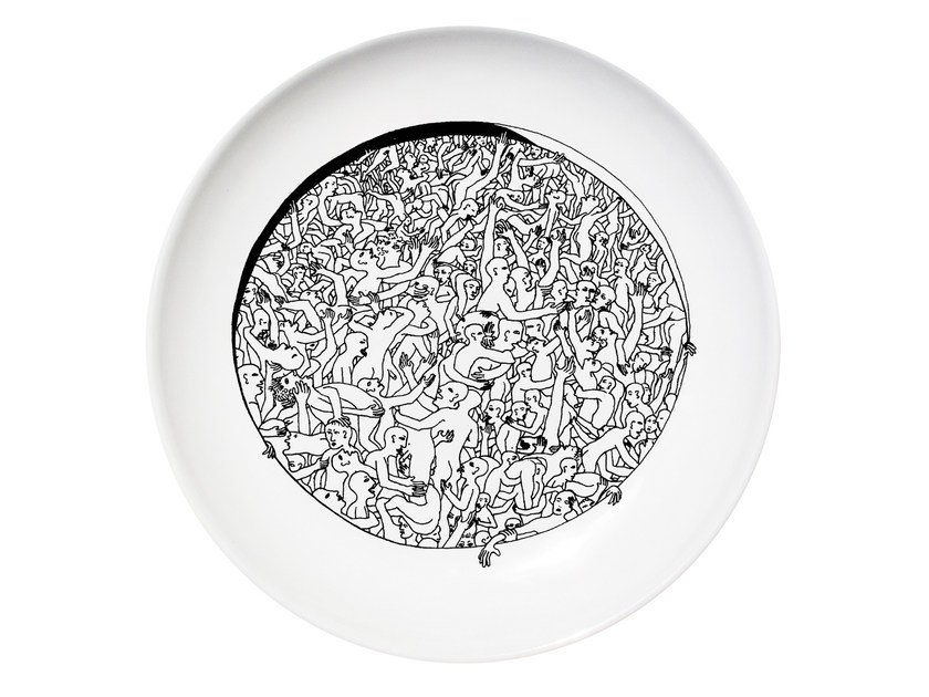 Ceramic dinner plate LIBERTINE by Kiasmo