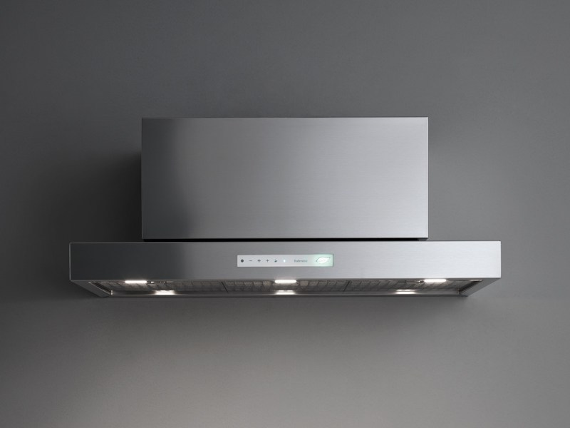 Wall-mounted steel cooker hood with bipolar controlled ionization LIBRA E.ION by Falmec