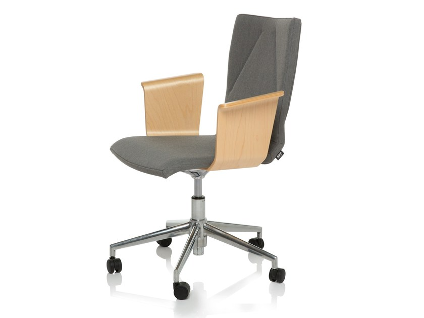 Task chair with 5-Spoke base LIBRA by RIGA CHAIR