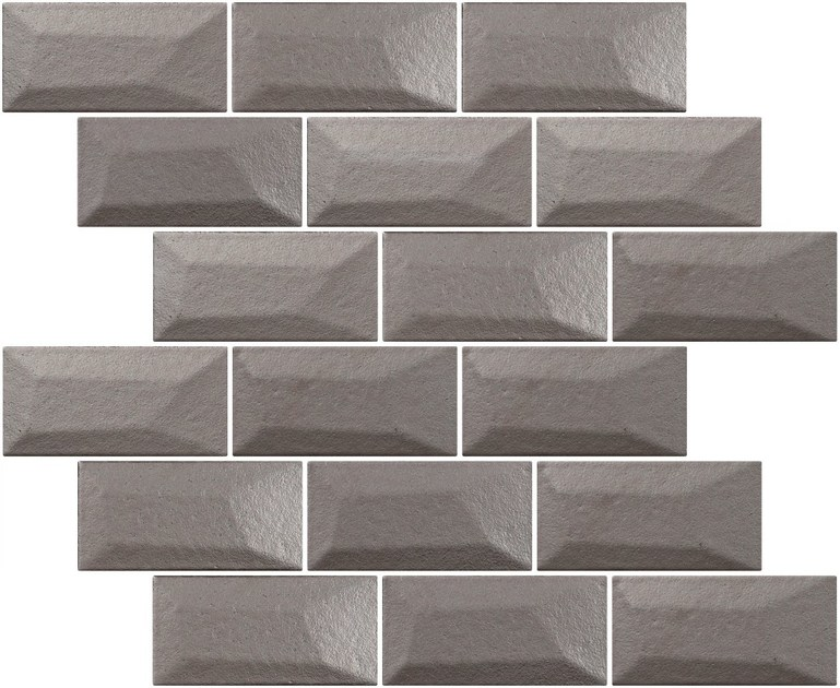 Indoor single-fired ceramic wall tiles with brick effect LIBRA SHINE ALUMINIUM by Appiani