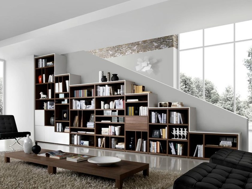 Sectional wooden bookcase LIBRERIA02 by Kico