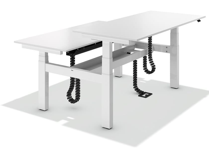 Height-adjustable multiple office workstation LIFT DESK TWIN by BENE