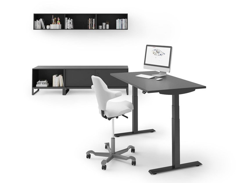Height-adjustable office desk LIFT by FURNIKO
