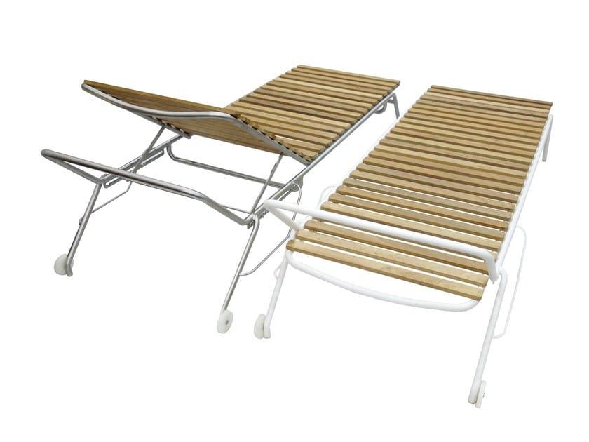 Lettino da giardino reclinabile con ruote lift mobika garden