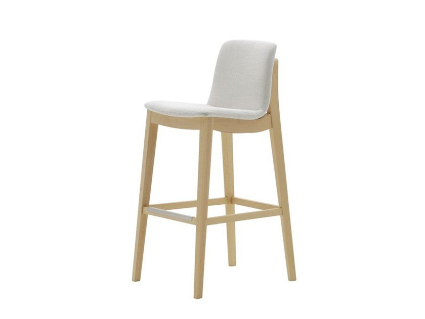 High upholstered stool LIGHT 03281 by Montbel