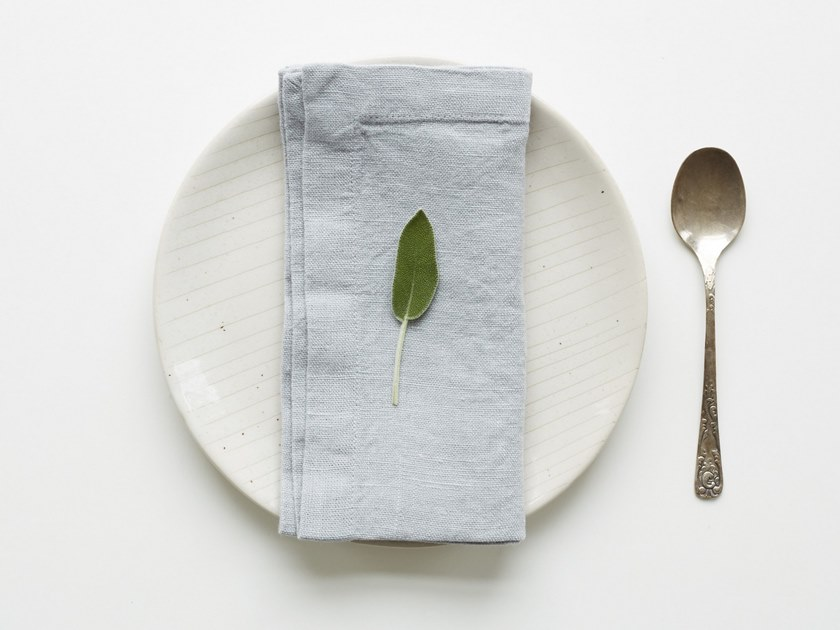 Washed linen napkin LIGHT GREY | Napkin by Linen Tales