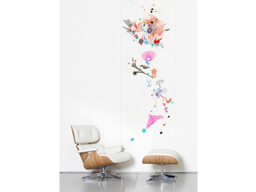 Non-woven paper wallpaper strip LIGHT MIX by Moustache
