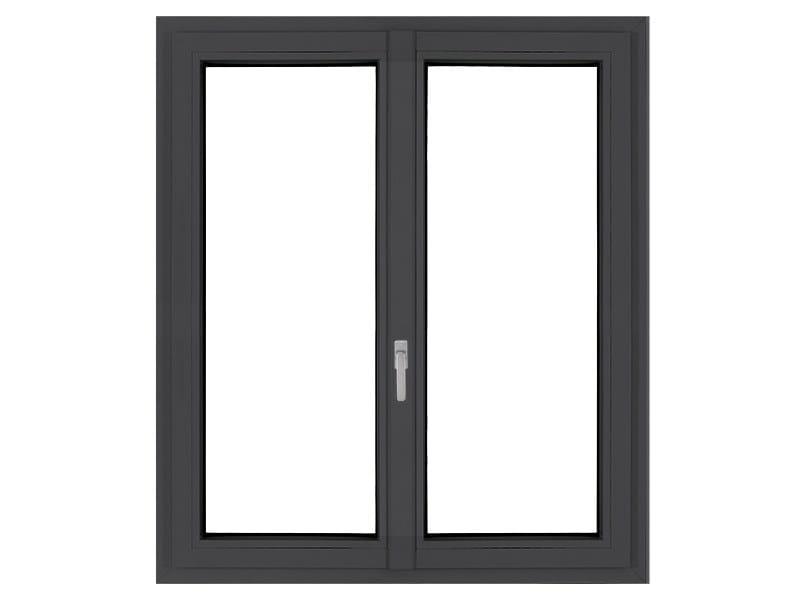 PVC double glazed window LIGHTEK by FOSSATI SERRAMENTI