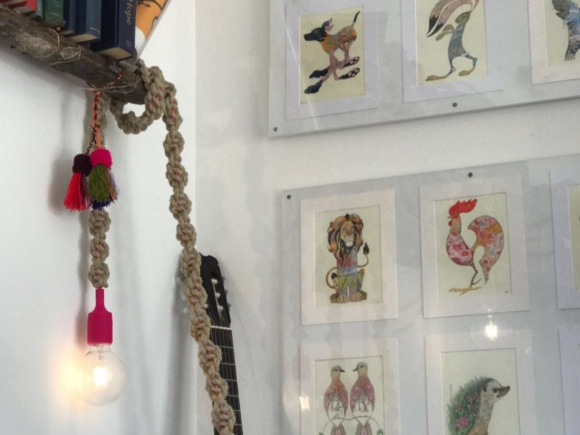 Handmade macramè pendant lamp LIGHTY NATURAL by Rope Studio London
