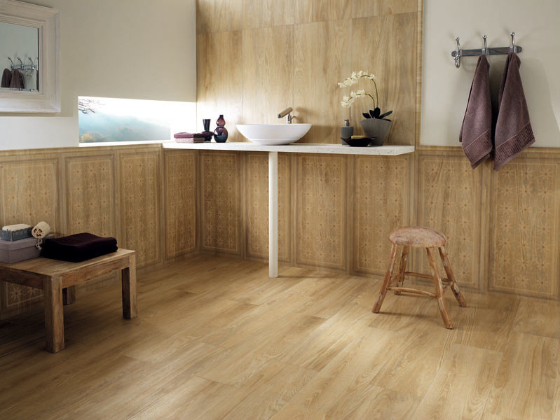 Porcelain stoneware wall/floor tiles with wood effect LIGNUM ACER by La Fabbrica