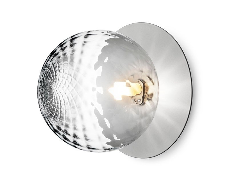 Blown glass wall lamp / ceiling lamp LIILA 1 LARGE OPTIC by Nuura