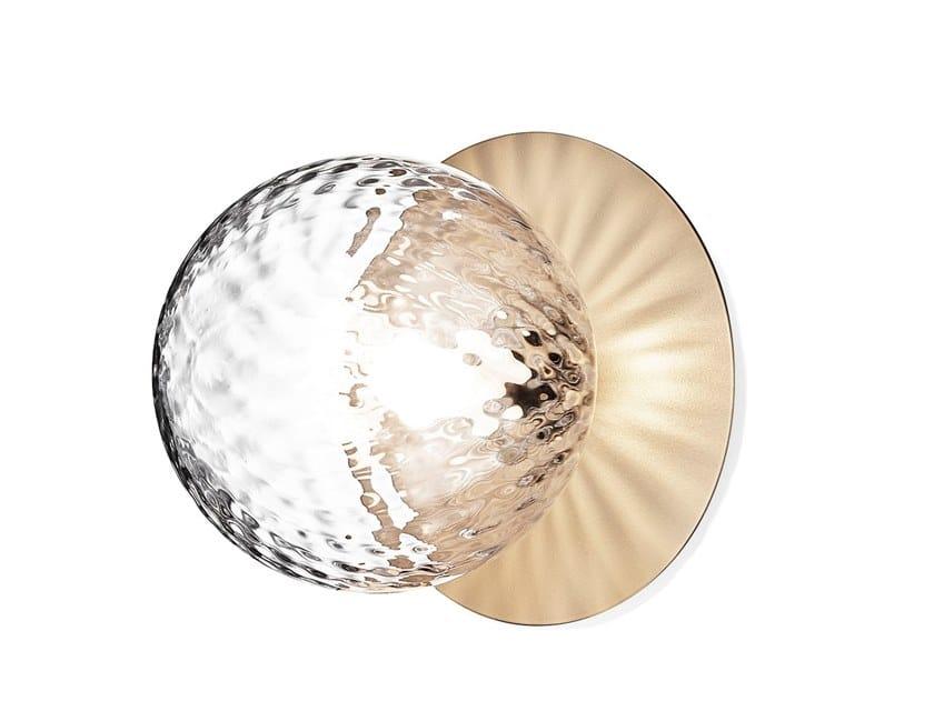 Lampada da parete / lampada da soffitto in vetro soffiato LIILA 1 MEDIUM OPTIC by Nuura