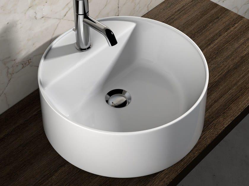 Contemporary style countertop ceramic washbasin VANITY WASHBASINS | Round washbasin by Olympia Ceramica