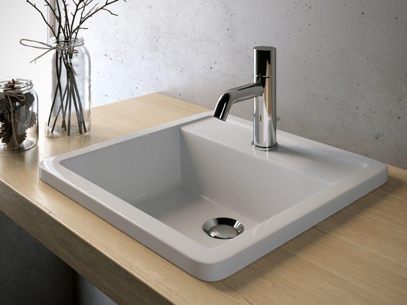 Inset square ceramic washbasin VANITY WASHBASINS | Ceramic washbasin by Olympia Ceramica
