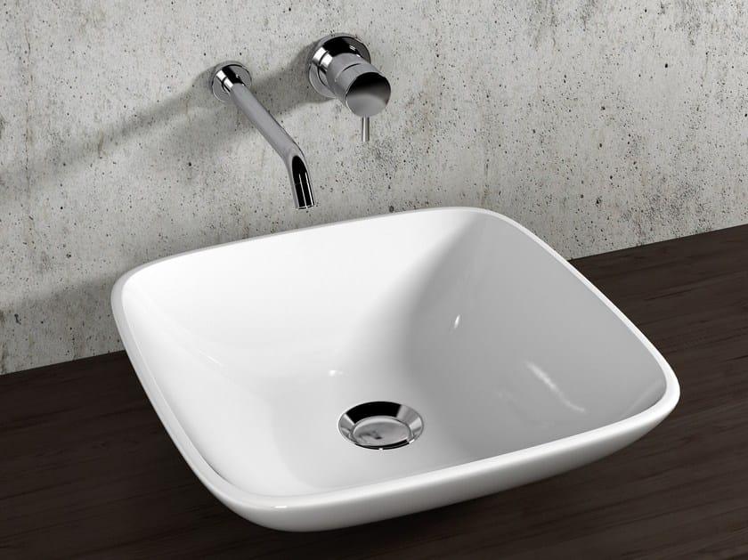 Countertop square ceramic washbasin VANITY WASHBASINS | Square washbasin by Olympia Ceramica