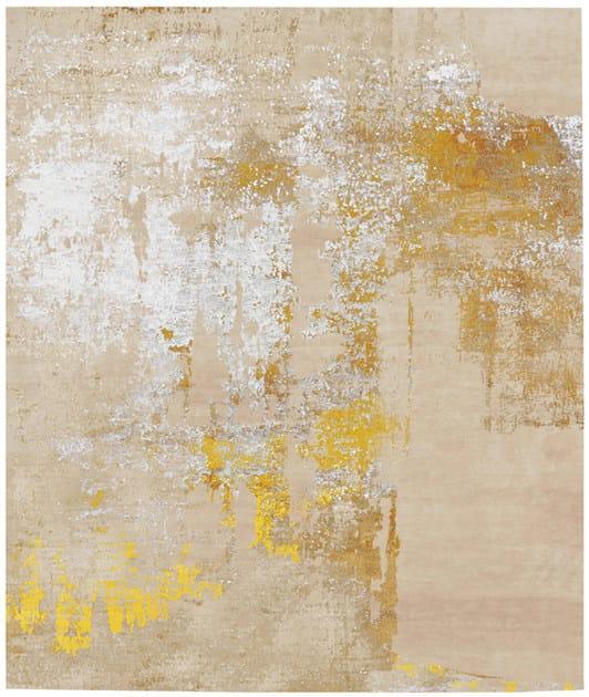 Handmade rectangular rug LILJEHOLMEN by HENZEL STUDIO