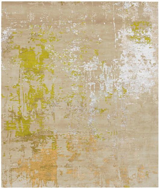 Handmade rectangular rug LILLA MOSEBACKE by HENZEL STUDIO
