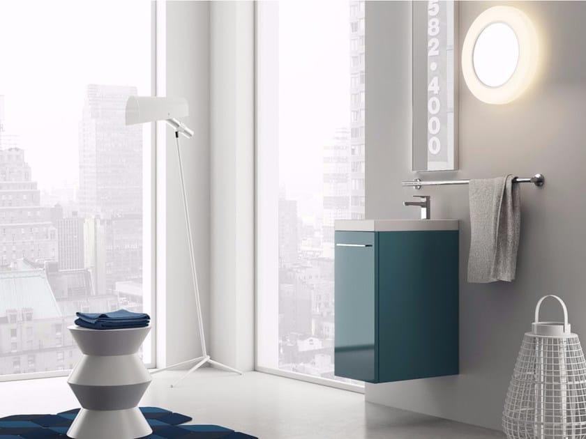 Wall-mounted laminate vanity unit LILLIPUT - 1 by INDA®