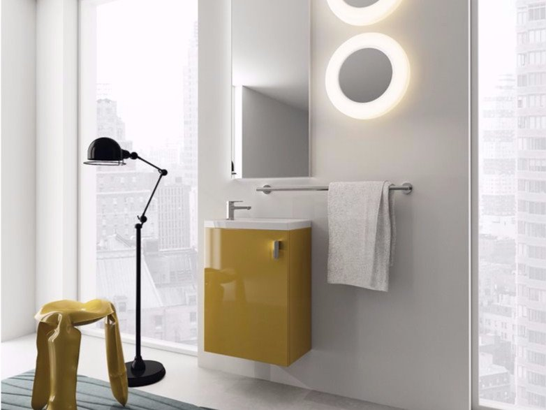 Wall-mounted laminate vanity unit LILLIPUT - 2 by INDA®