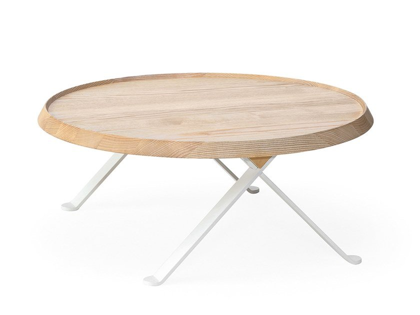 Low round ash coffee table LILLIPUT | Low coffee table by BILLIANI