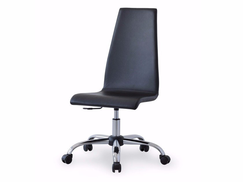 Leather task chair with casters LILO | Task chair by Italy Dream Design