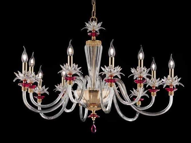 Crystal chandelier with Swarovski® Crystals LILY L6+6 by Euroluce Lampadari
