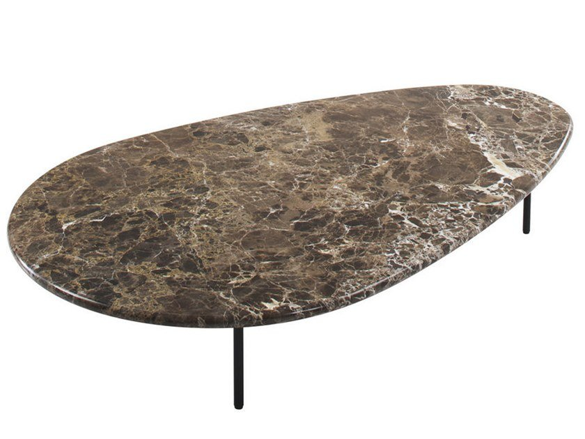 Low marble coffee table LILY | Marble coffee table by Casamania & Horm