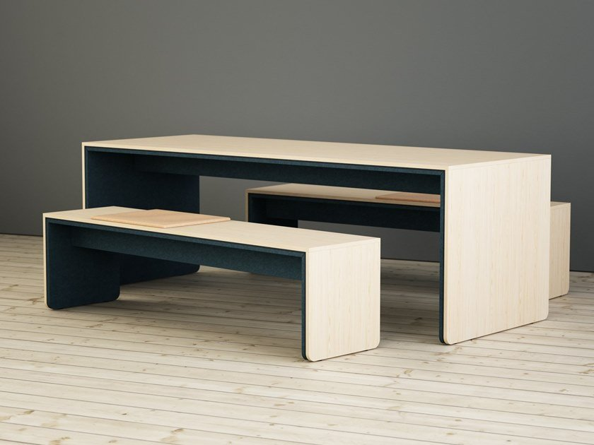 Rectangular wooden meeting table LIMBUS CAMPUS   Meeting table by Glimakra of Sweden