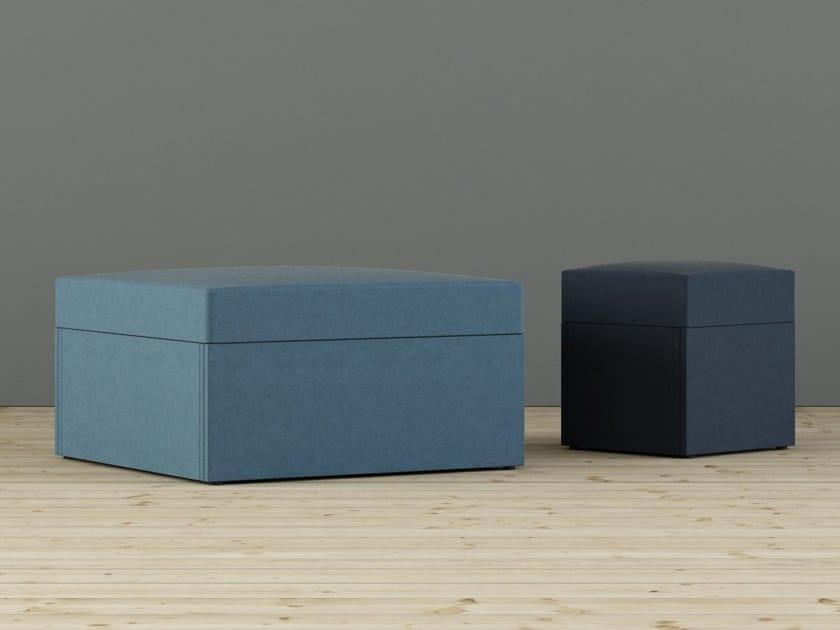 Square fabric pouf LIMBUS SIT   Pouf by Glimakra of Sweden