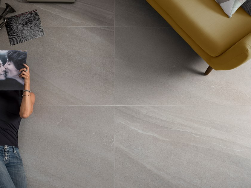 Indoor/outdoor porcelain stoneware wall/floor tiles with stone effect LIME-ROCK G by Ceramica d'Imola