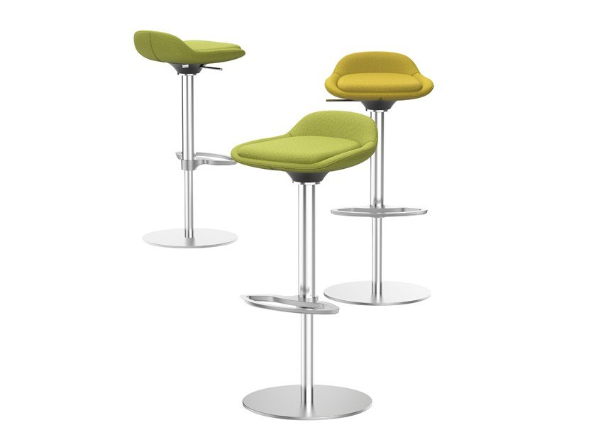 Fabric office stool with footrest LIME IS5 LI780 | Fabric office stool by Interstuhl