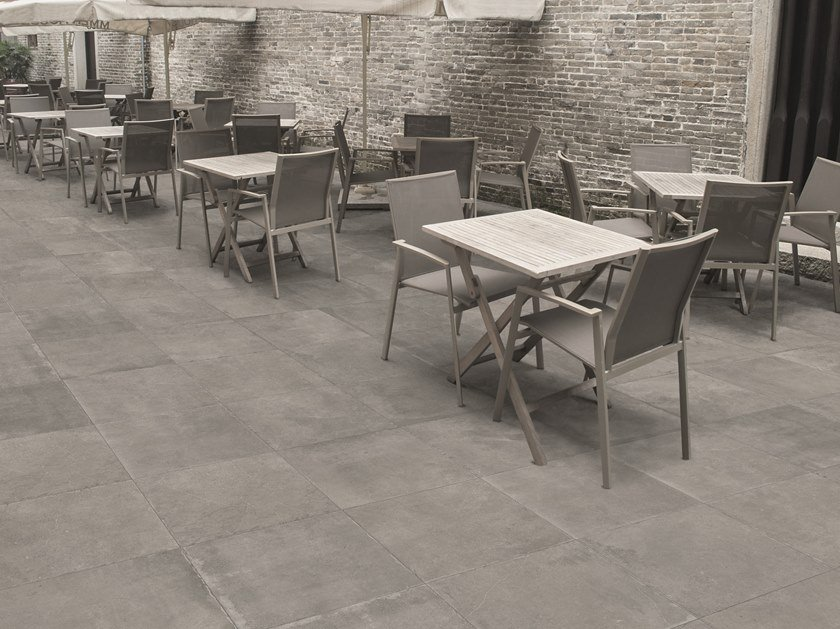 Stoneware flooring with stone effect LIMESTONE by ITT Ceramic
