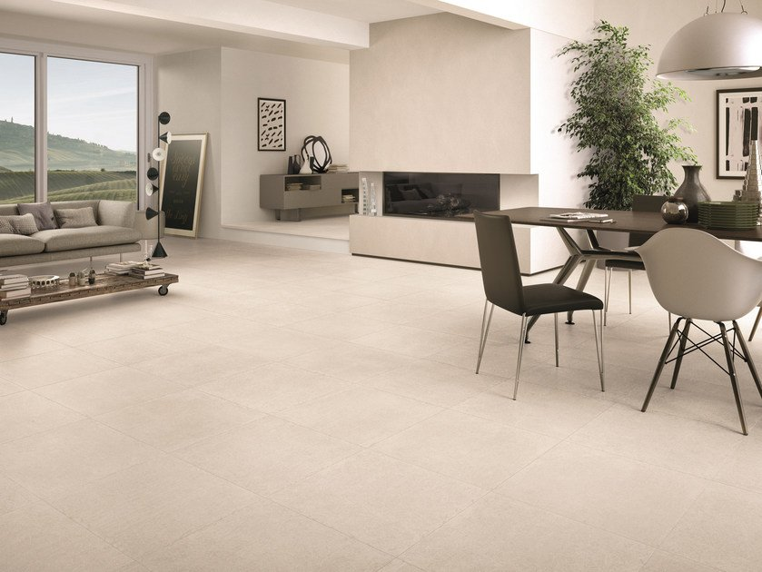 Indoor Outdoor Porcelain Stoneware Wall Floor Tiles LIMESTONE WHITE By Ergon Emilgroup