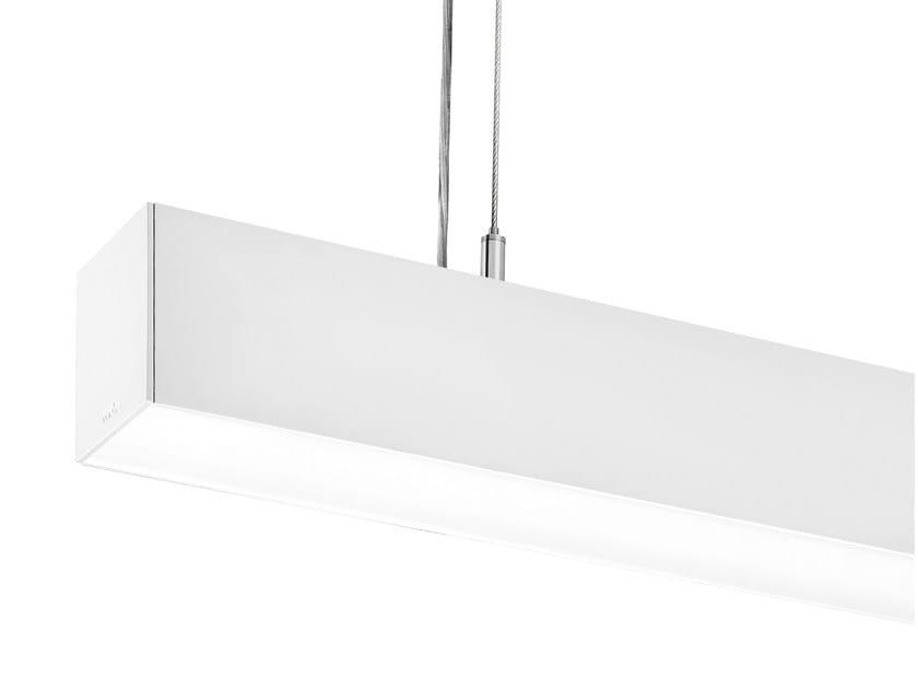 Fluorescent aluminium pendant lamp LINE 70 C by ONOK Lighting