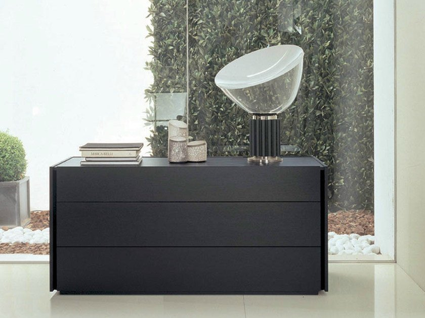 Wooden chest of drawers LINE | Chest of drawers by Fimar