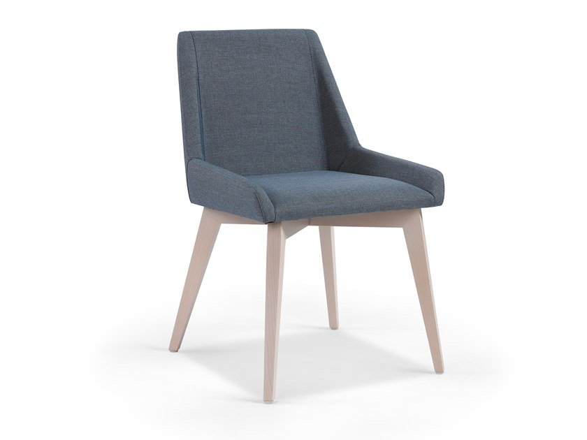 Upholstered fabric chair LINE by Fenabel