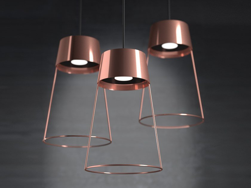 LED steel pendant lamp LINE by Marzais Créations
